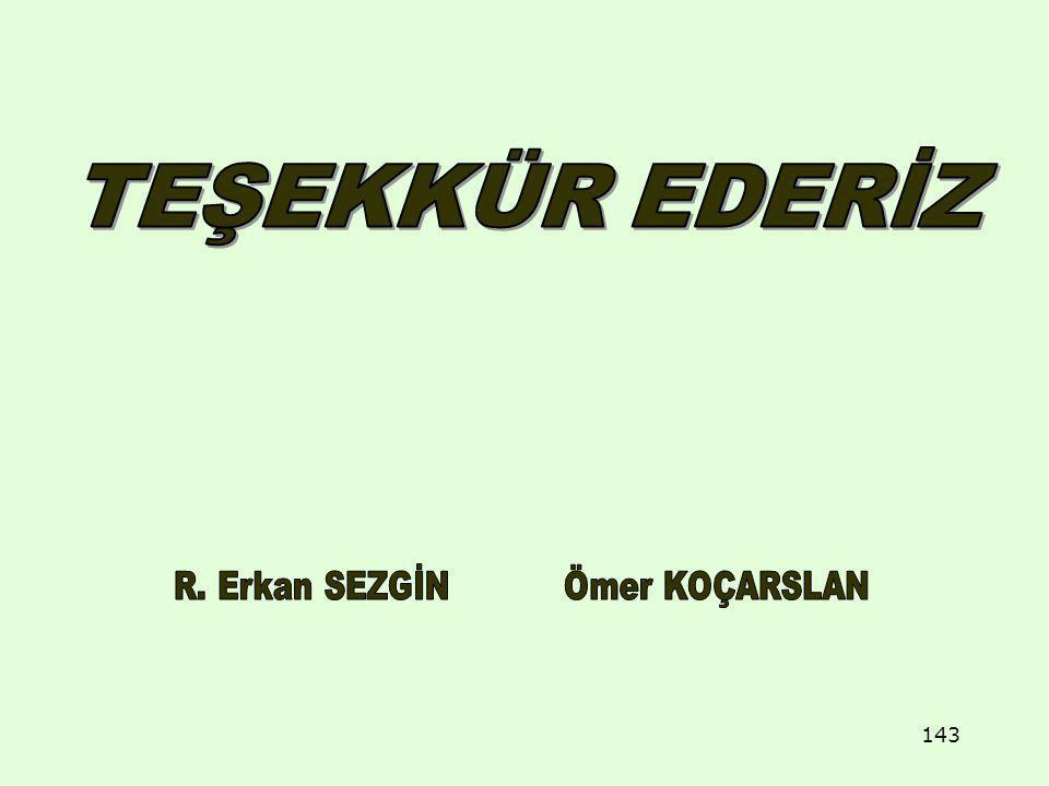 R. Erkan SEZGİN Ömer KOÇARSLAN