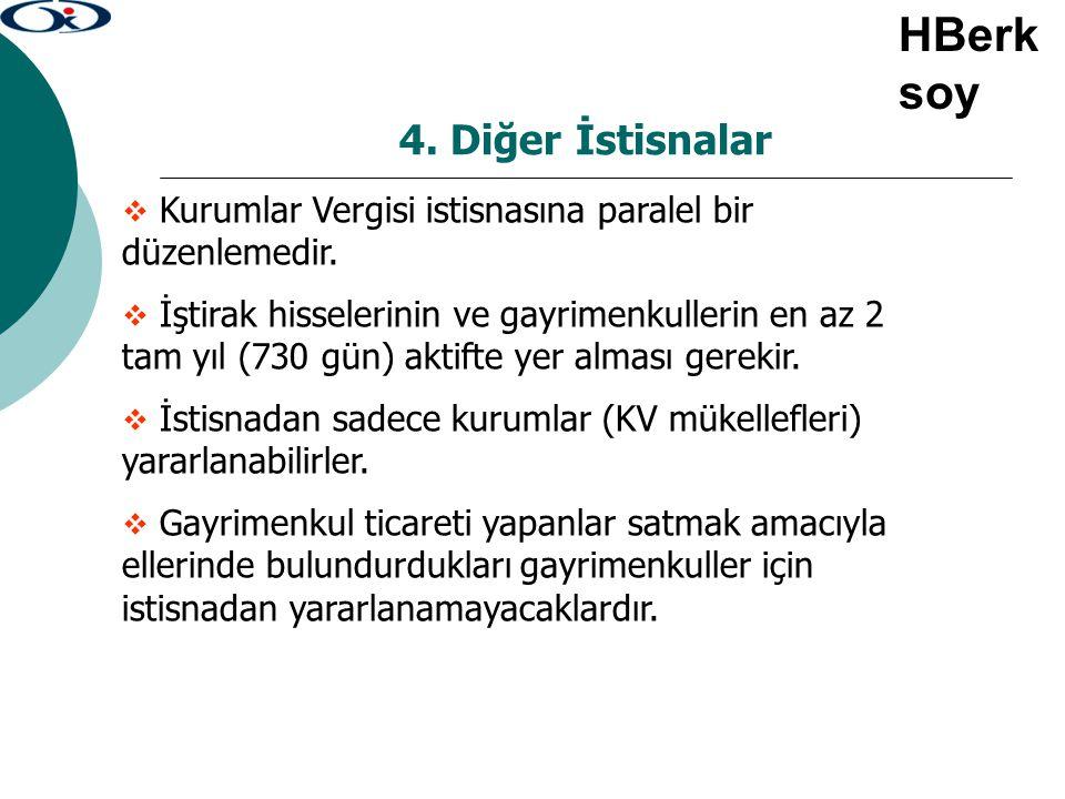 HBerksoy 4. Diğer İstisnalar