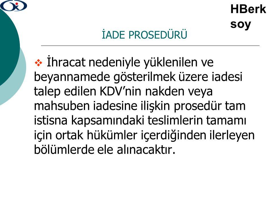 HBerksoy İADE PROSEDÜRÜ.