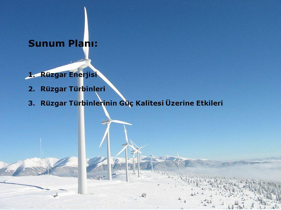 Sunum Planı: Rüzgar Enerjisi Rüzgar Türbinleri
