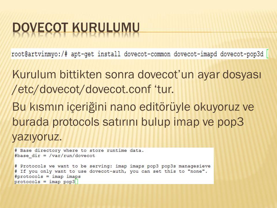 DOVECOT KURULUMU