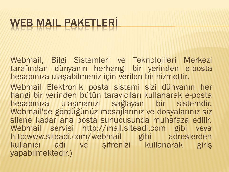 WEB MAIL PAKETLERİ