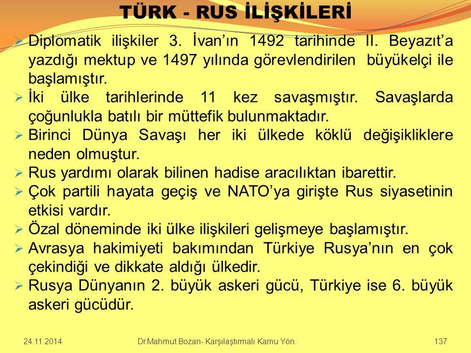 TÜRK - RUS İLİŞKİLERİ