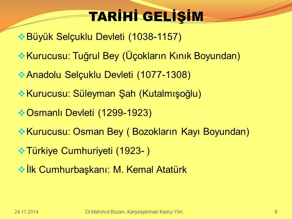 TARİHİ GELİŞİM Büyük Selçuklu Devleti (1038-1157)