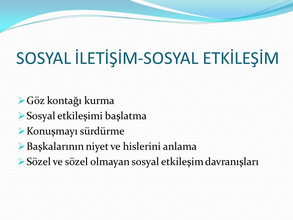 SOSYAL İLETİŞİM-SOSYAL ETKİLEŞİM
