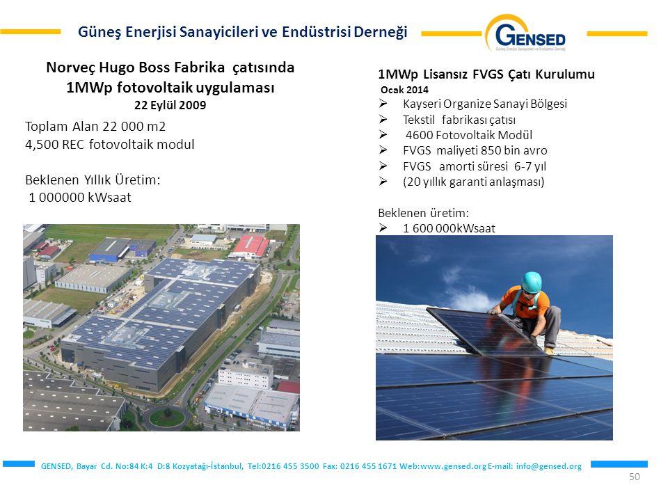 Norveç Hugo Boss Fabrika çatısında 1MWp fotovoltaik uygulaması 22 Eylül 2009