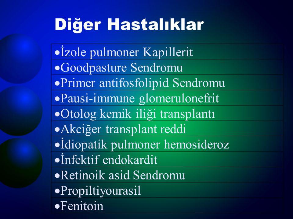 Diğer Hastalıklar İzole pulmoner Kapillerit Goodpasture Sendromu