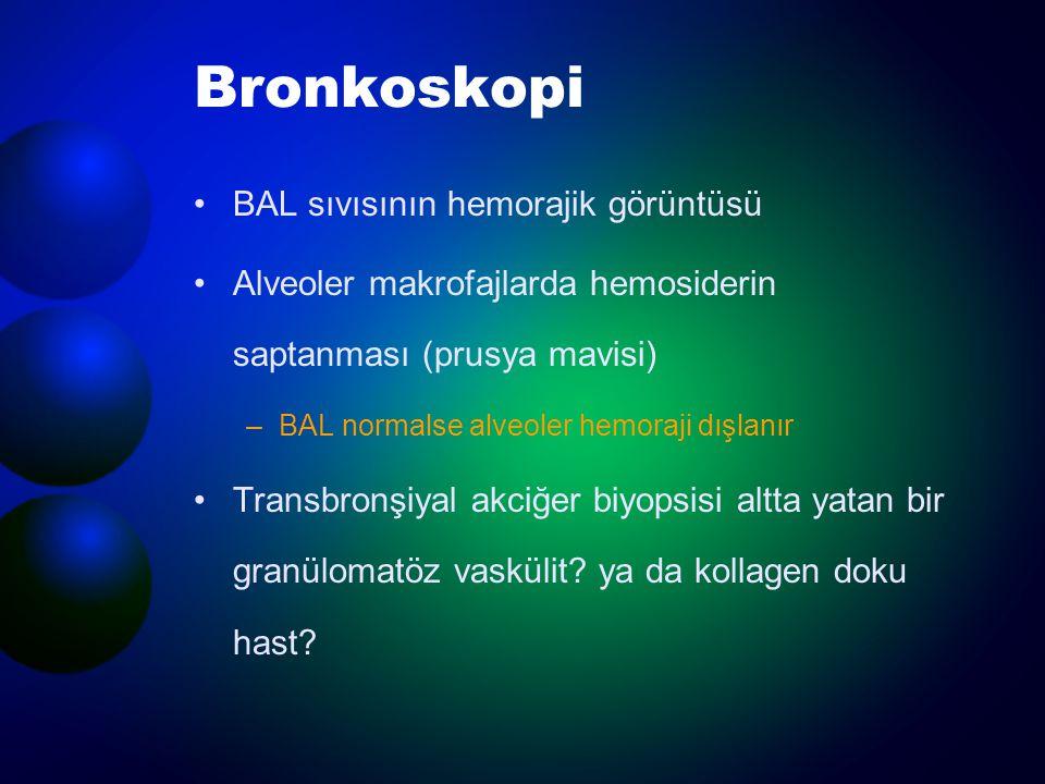 Bronkoskopi BAL sıvısının hemorajik görüntüsü