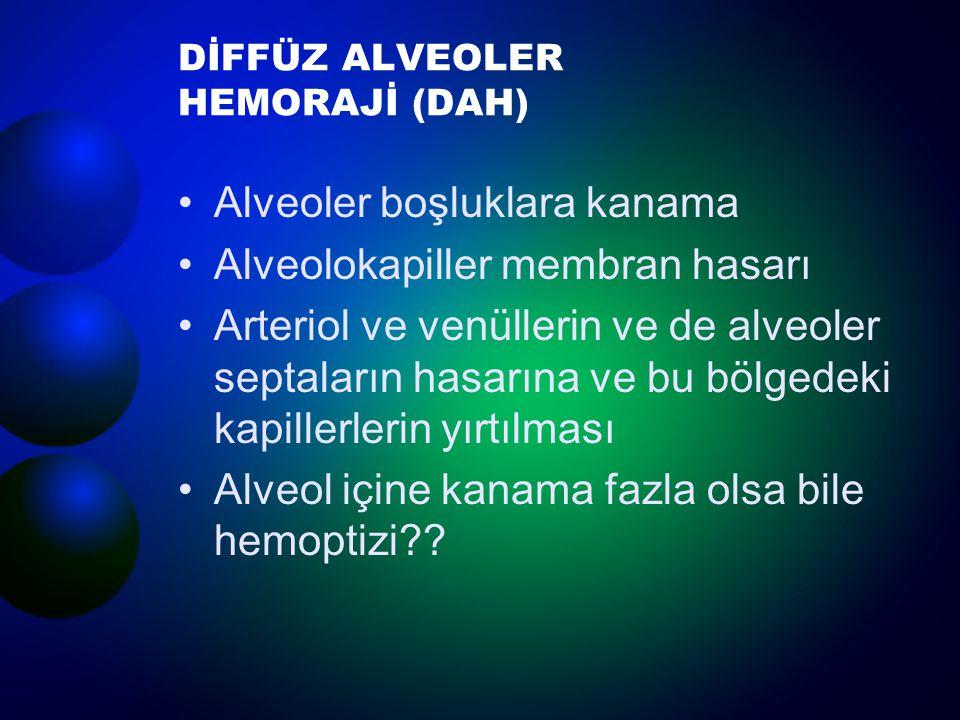DİFFÜZ ALVEOLER HEMORAJİ (DAH)