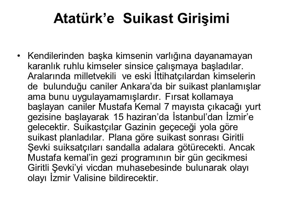 Atatürk'e Suikast Girişimi