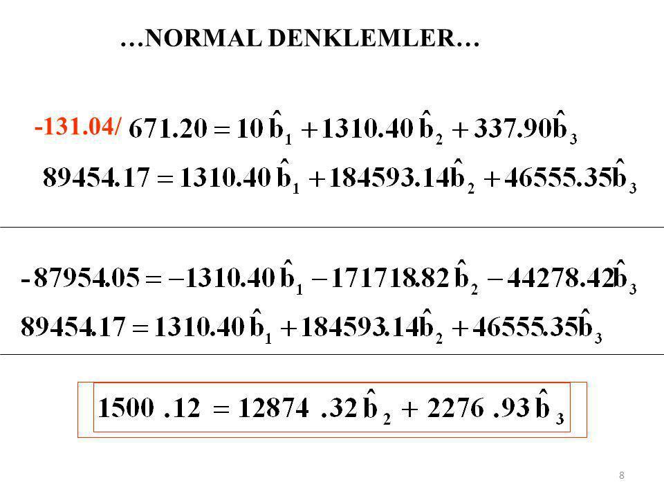 …NORMAL DENKLEMLER… -131.04/