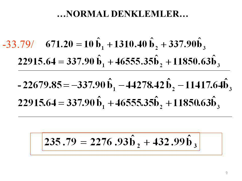 …NORMAL DENKLEMLER… -33.79/