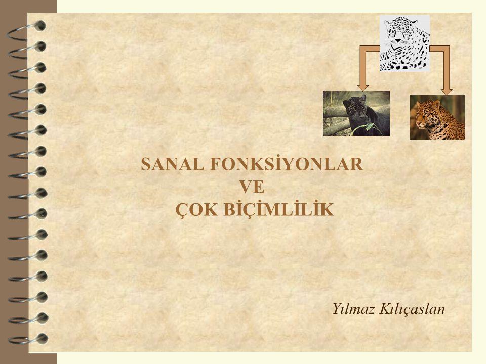 SANAL FONKSİYONLAR VE ÇOK BİÇİMLİLİK