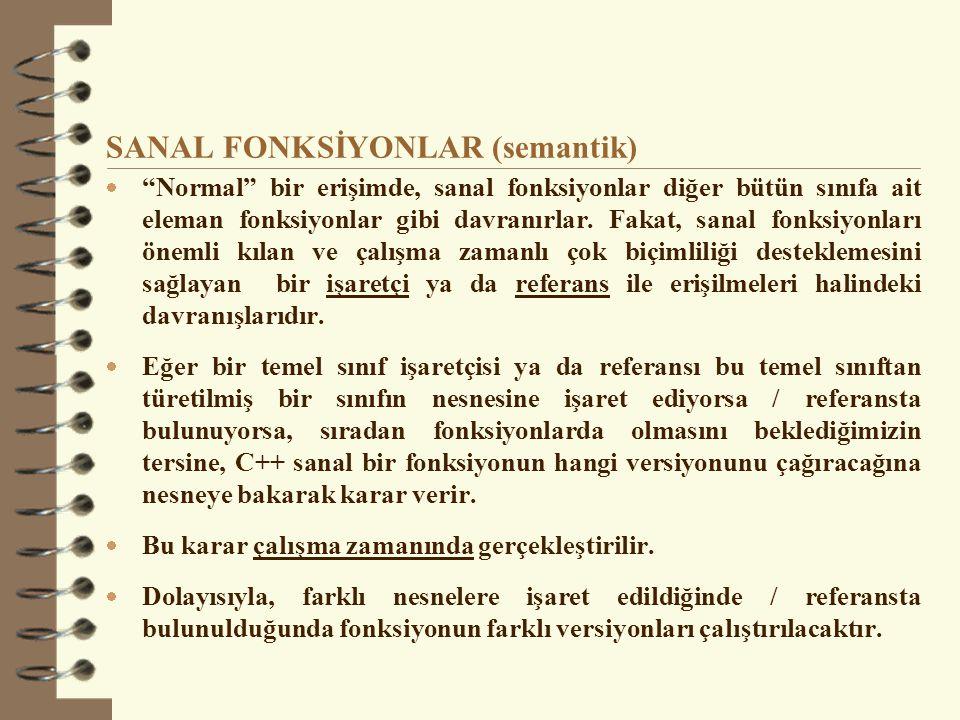 SANAL FONKSİYONLAR (semantik)