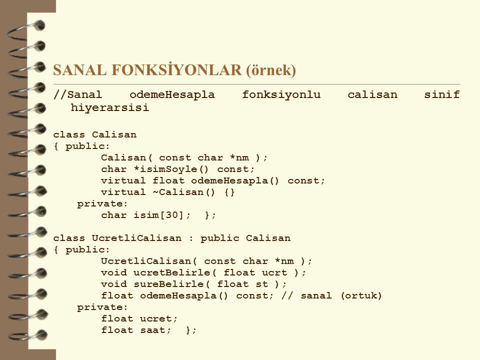 SANAL FONKSİYONLAR (örnek)