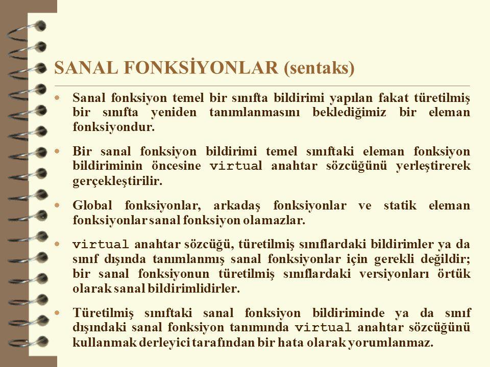 SANAL FONKSİYONLAR (sentaks)