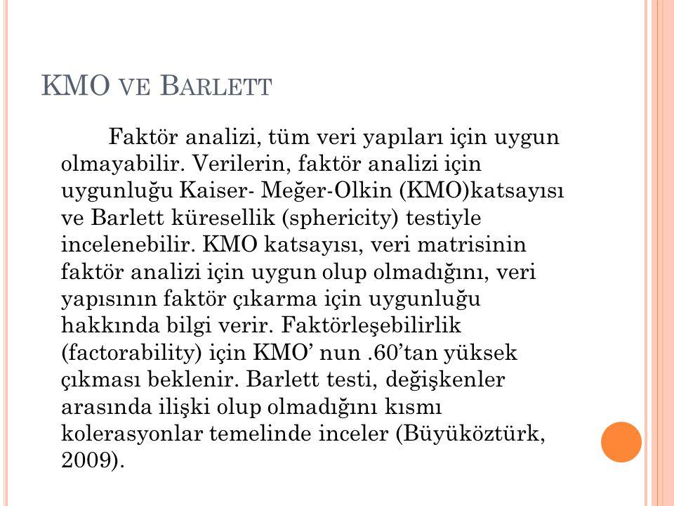 KMO ve Barlett
