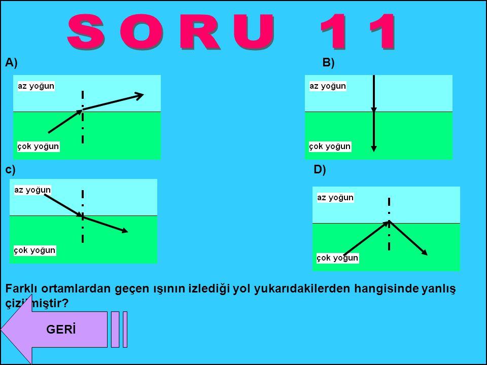 SORU 11 A) B)