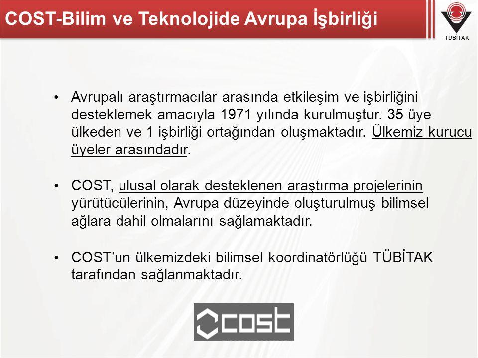 COST-Bilim ve Teknolojide Avrupa İşbirliği