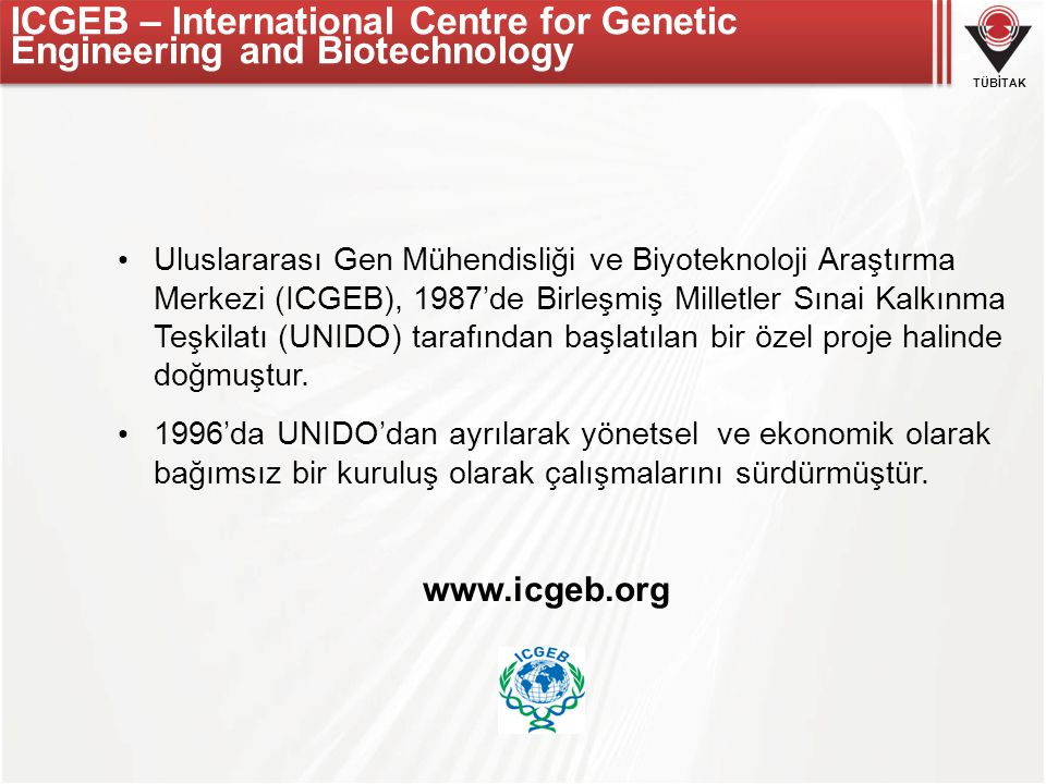 ICGEB – International Centre for Genetic Engineering and Biotechnology