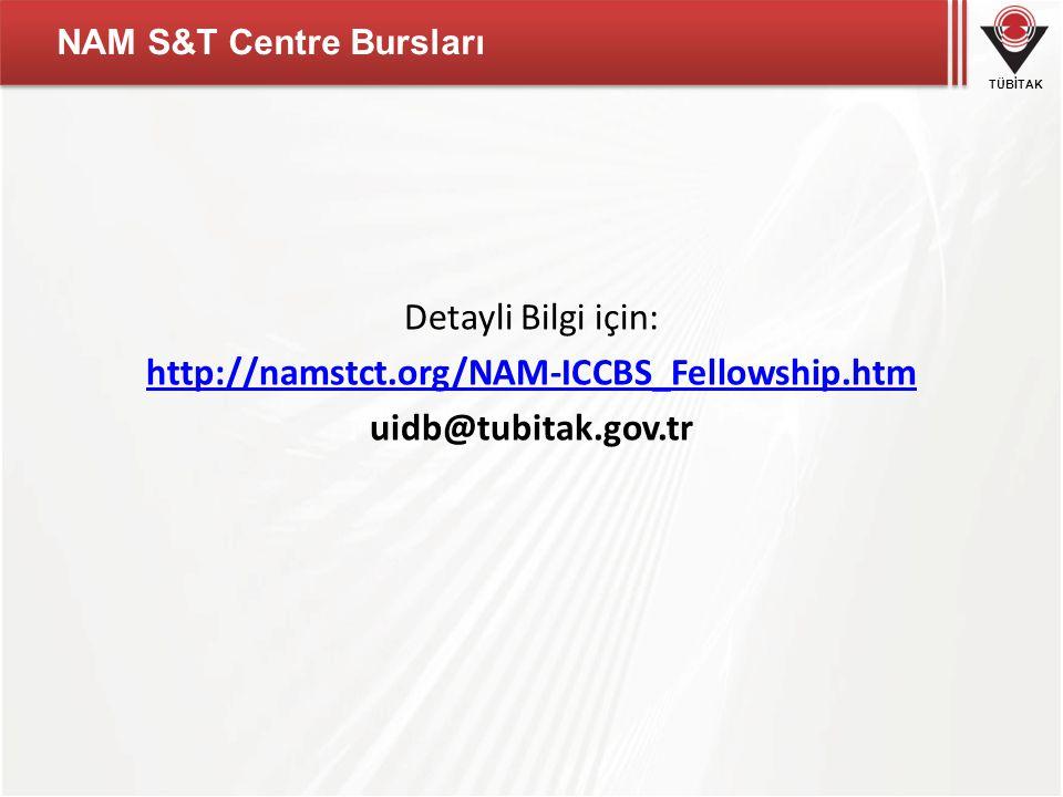 NAM S&T Centre Bursları