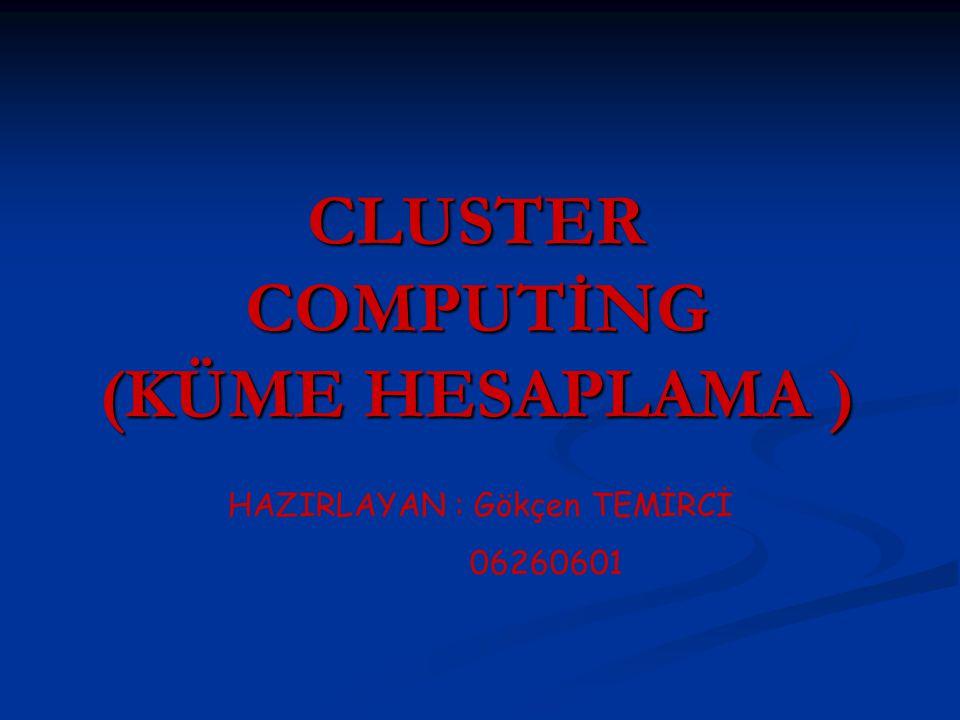 CLUSTER COMPUTİNG (KÜME HESAPLAMA )