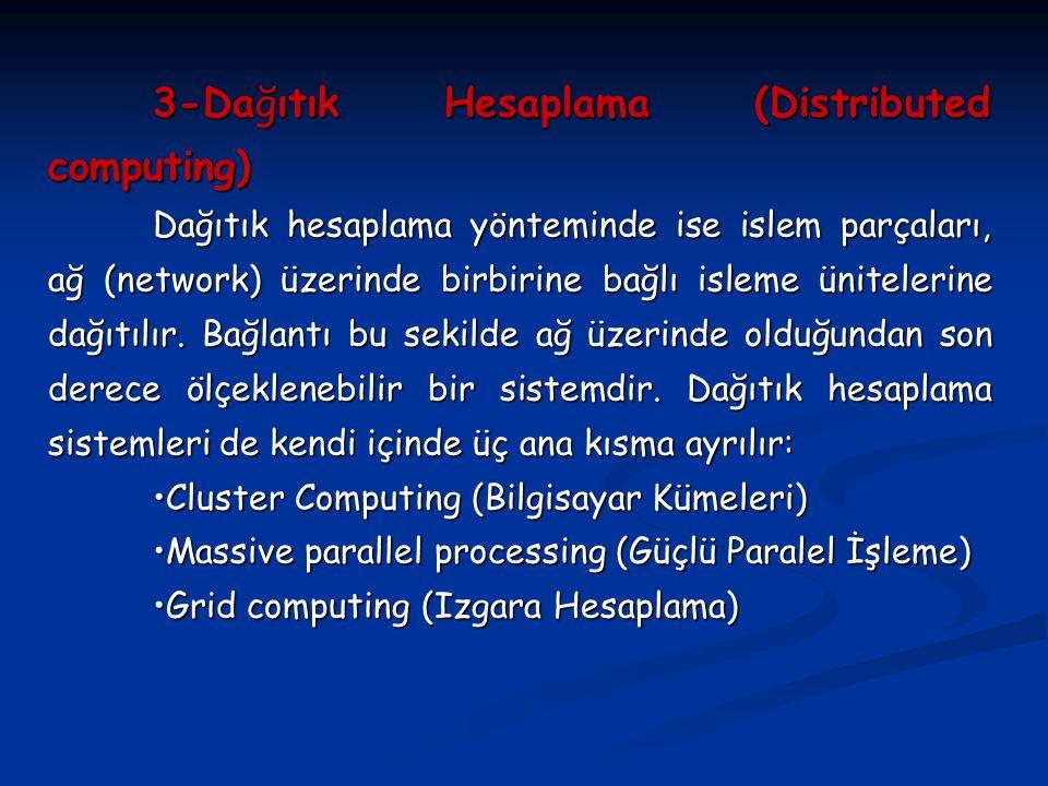 3-Dağıtık Hesaplama (Distributed computing)