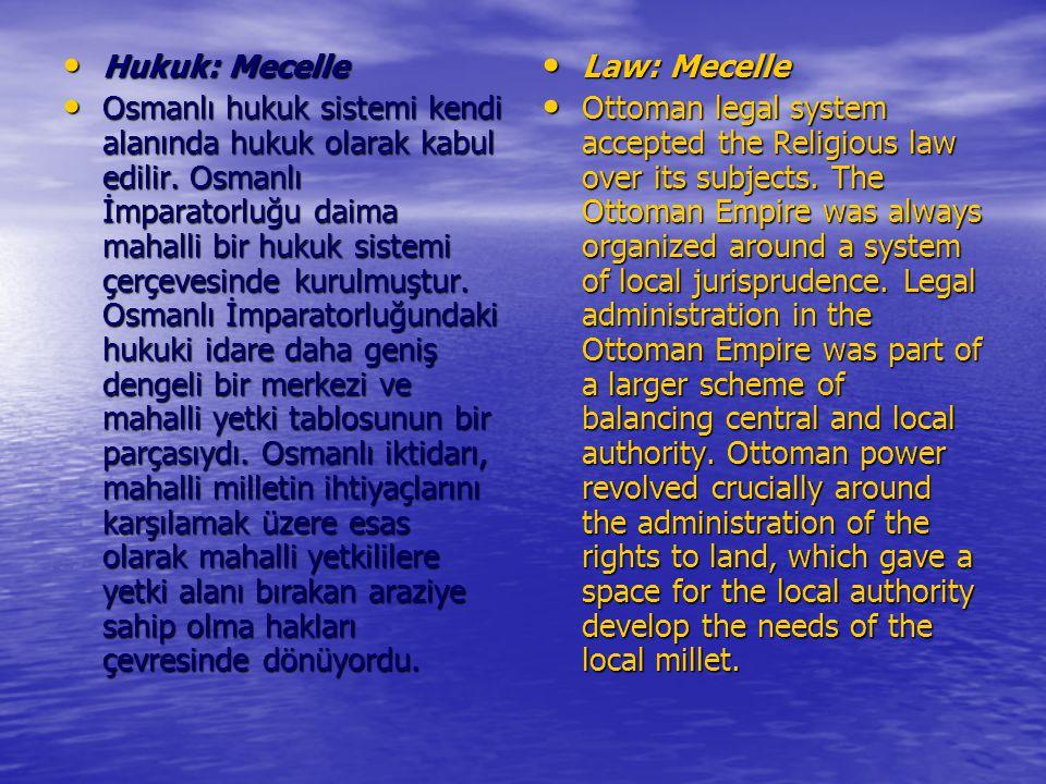 Hukuk: Mecelle