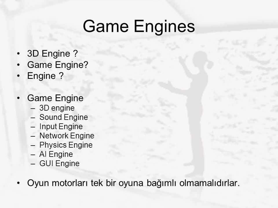 Game Engines 3D Engine Game Engine Engine Game Engine