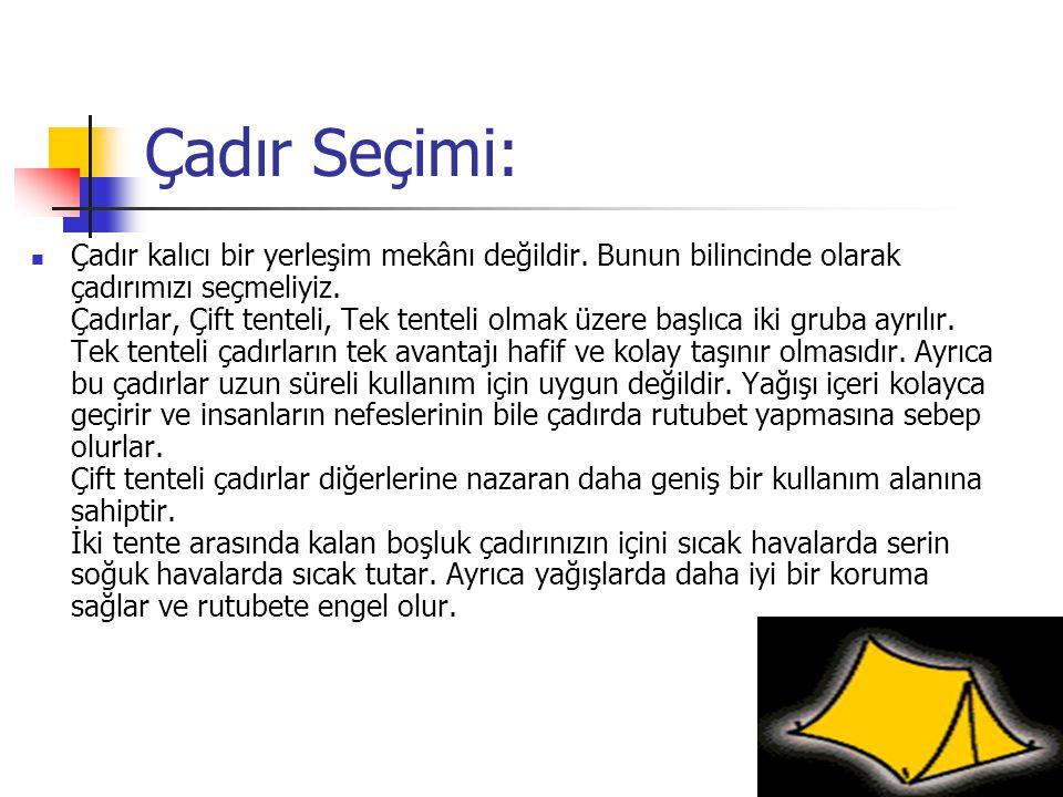 Çadır Seçimi: