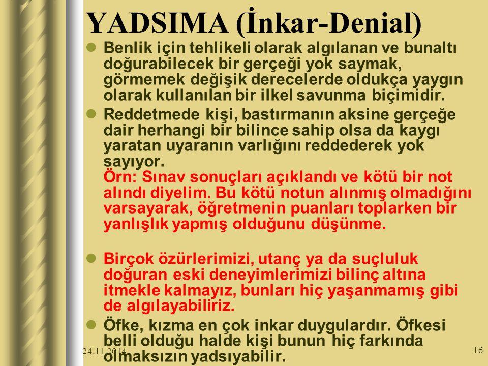 YADSIMA (İnkar-Denial)