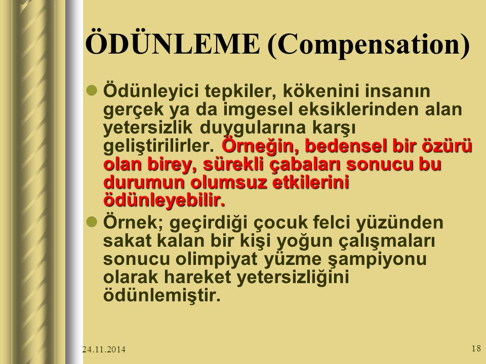 ÖDÜNLEME (Compensation)
