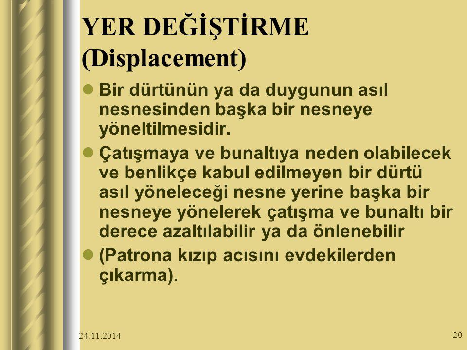 YER DEĞİŞTİRME (Displacement)