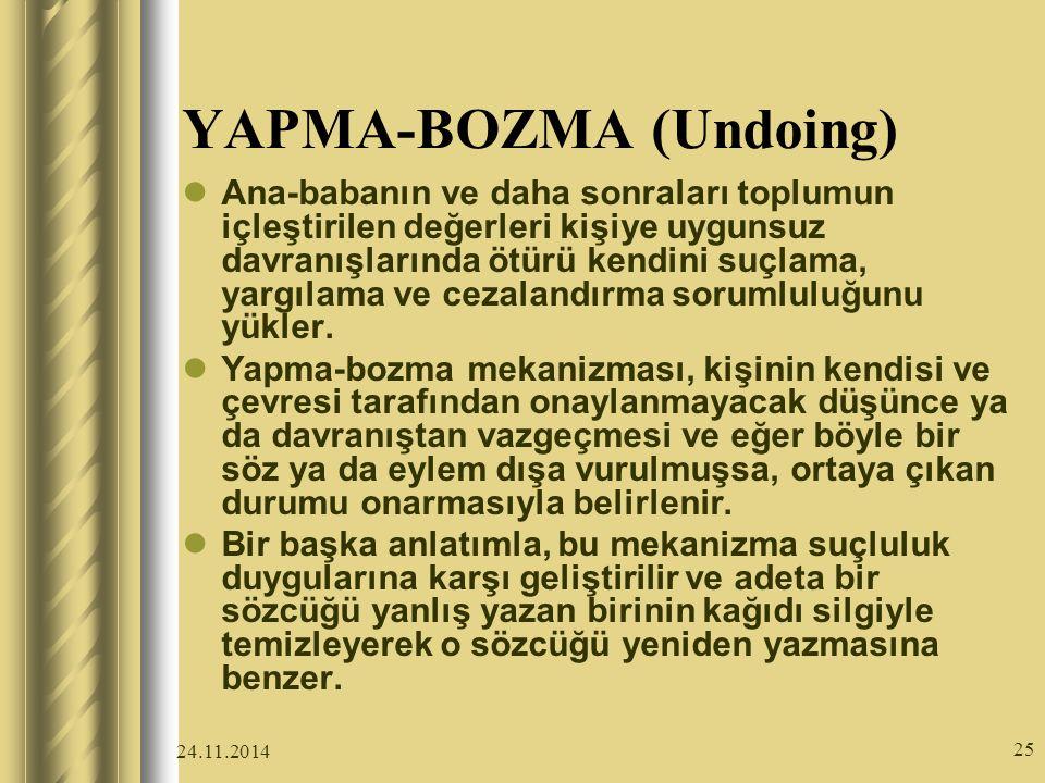 YAPMA-BOZMA (Undoing)