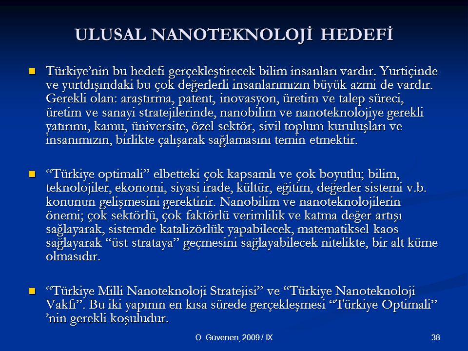 ULUSAL NANOTEKNOLOJİ HEDEFİ