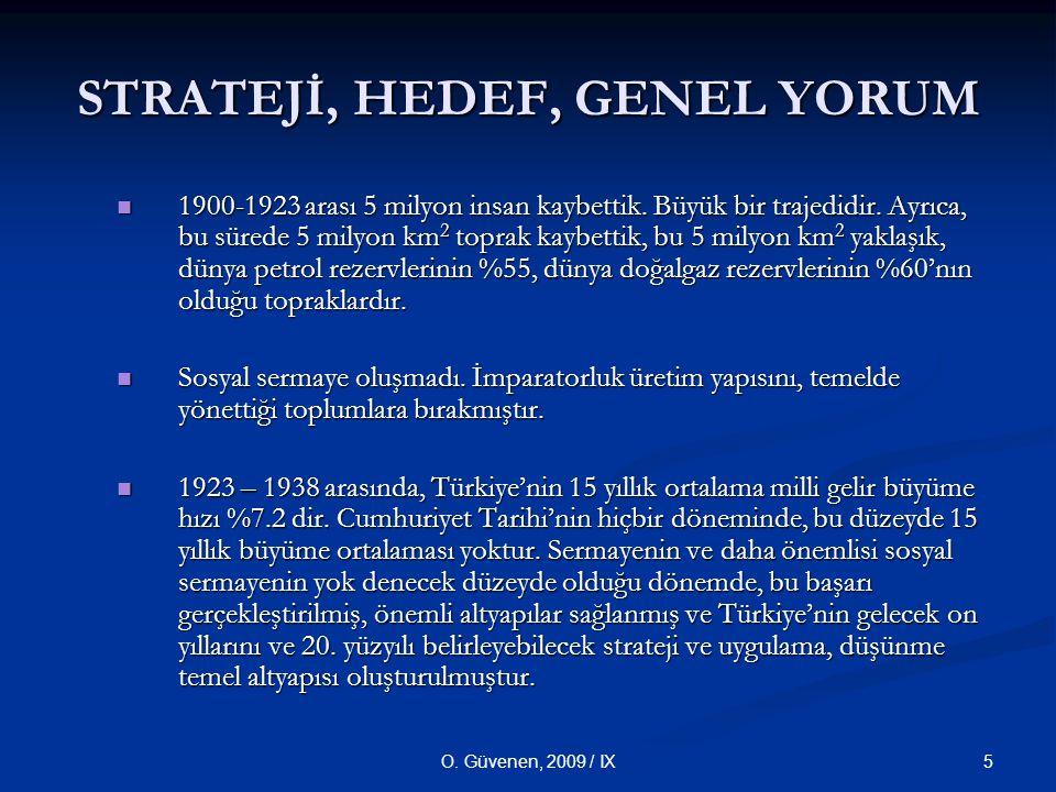 STRATEJİ, HEDEF, GENEL YORUM