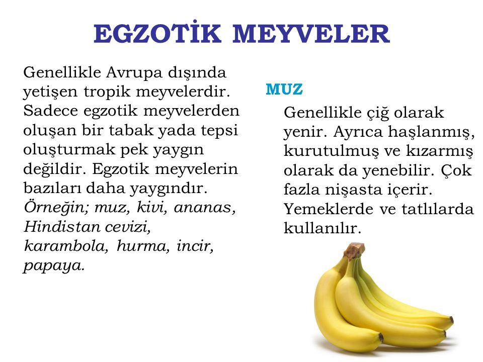 EGZOTİK MEYVELER