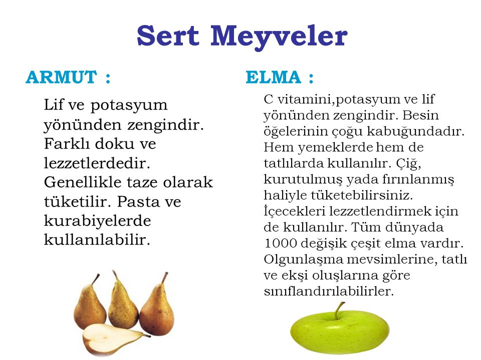 Sert Meyveler ARMUT :