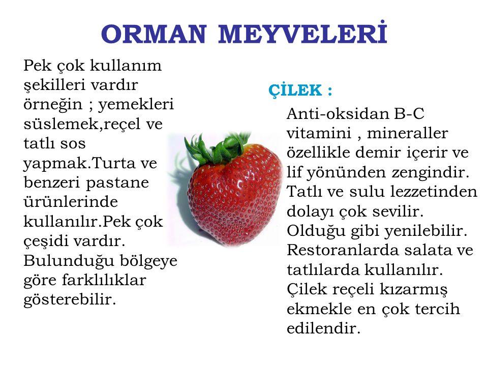 ORMAN MEYVELERİ