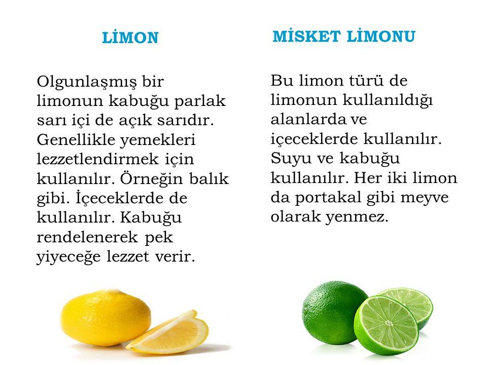 LİMON MİSKET LİMONU.