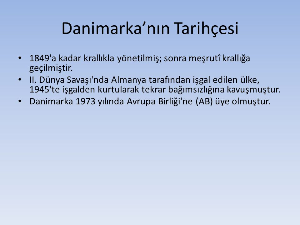 Danimarka'nın Tarihçesi
