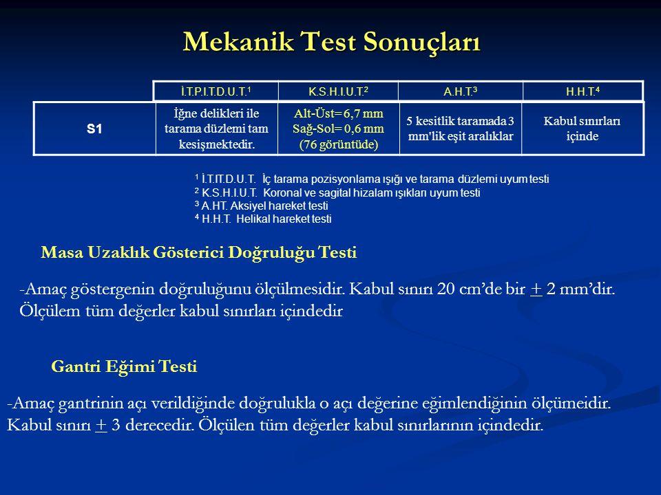 Mekanik Test Sonuçları