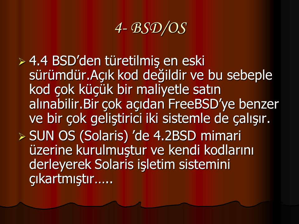 4- BSD/OS