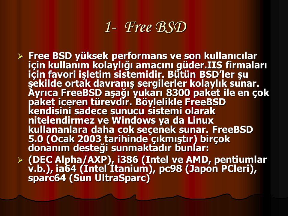 1- Free BSD
