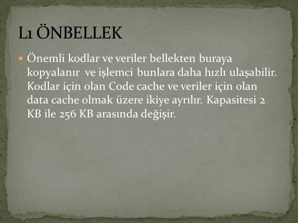 L1 ÖNBELLEK