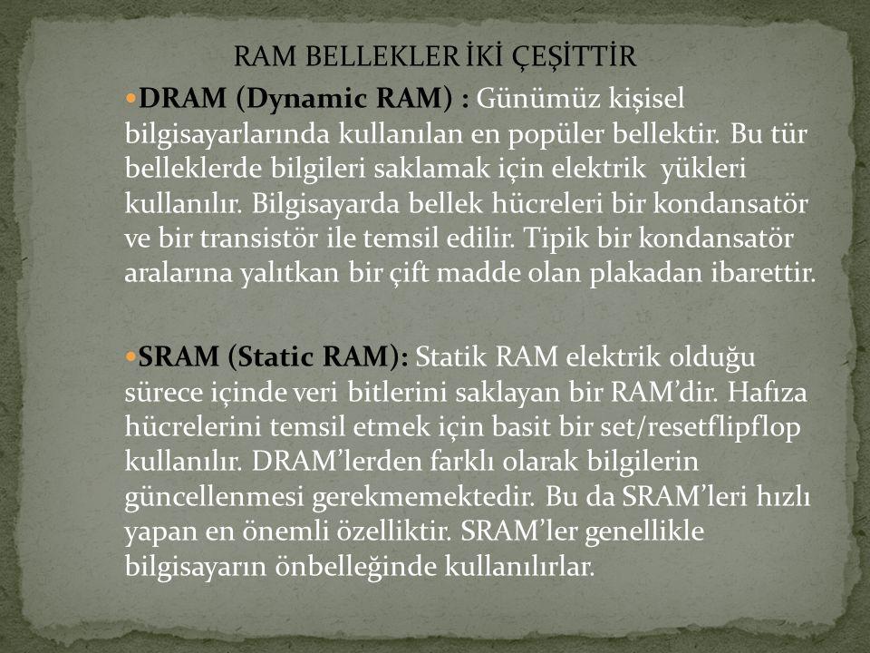 RAM BELLEKLER İKİ ÇEŞİTTİR