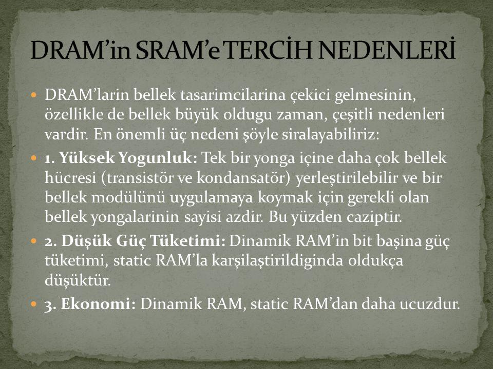 DRAM'in SRAM'e TERCİH NEDENLERİ
