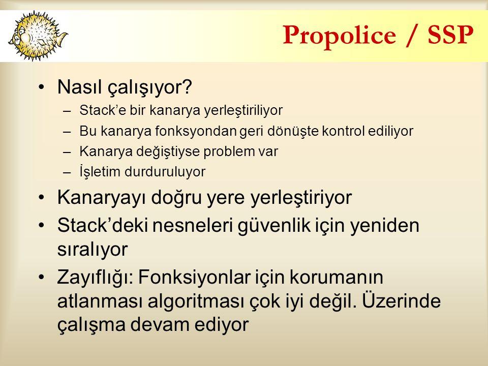Propolice / SSP Nasıl çalışıyor Kanaryayı doğru yere yerleştiriyor