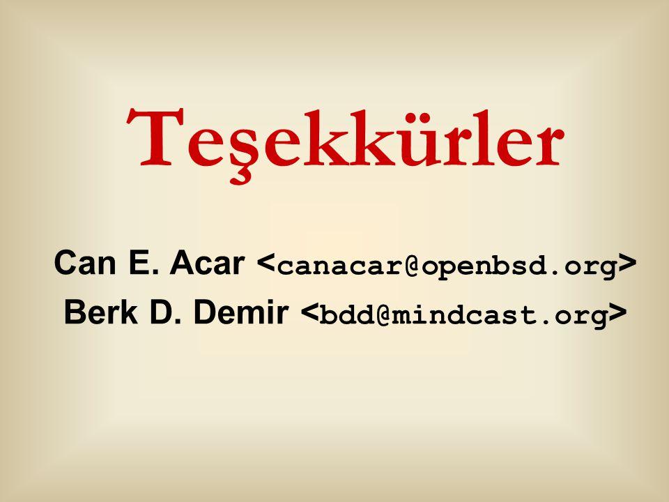 Berk D. Demir <bdd@mindcast.org>