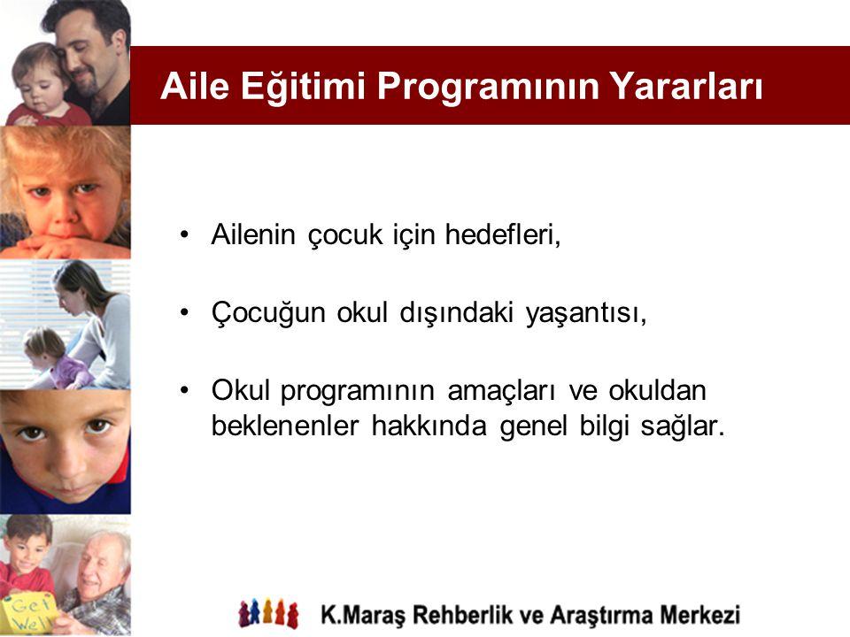 Aile Eğitimi Programının Yararları